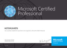 VICTOR ZAYETS - Microsoft Certified Professional