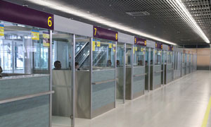 Technological furniture for airports